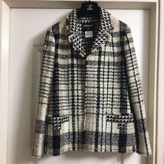 Chanel Tweed Jacket vintage Used Sz 42