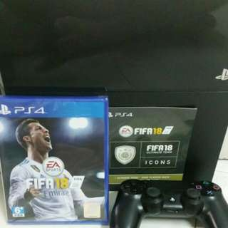 Fifa 18 With Ps4 500GB