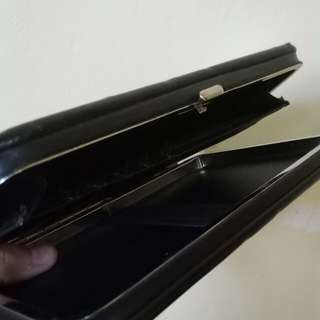 Black leather cellet (cellphone wallet )