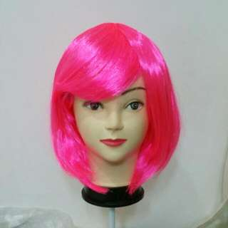 Bright Pink Party Wig