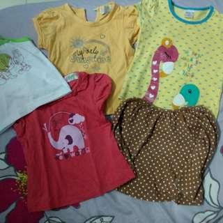 Girls Clothes bundle shirt 12 months