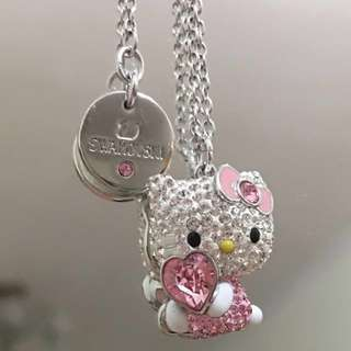 *限時快閃特價HKD650* Swarovski Hello Kitty necklace 水晶頸鏈