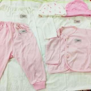 Baju setelan fluffy bayi panjang NB / 0-3