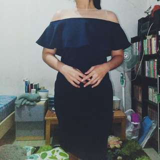 Sabrina Fitting Dress Navy