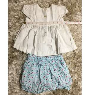 FLORAL 2 PC BLOUES AND SHORT