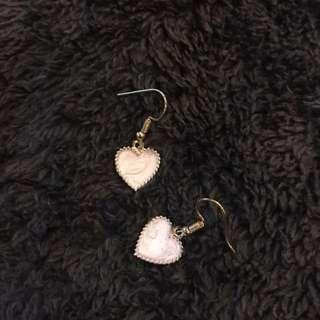 Korean style heart earring