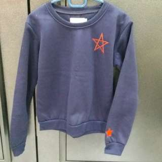 New Blue Winter Star Sweater