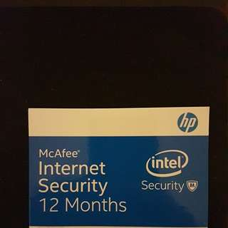 McAfee Internet Security (12 months subscription)