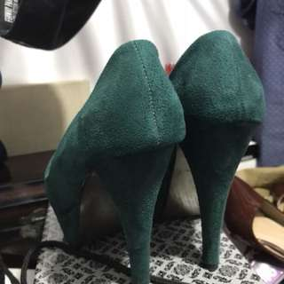 Velvet Green Shoes