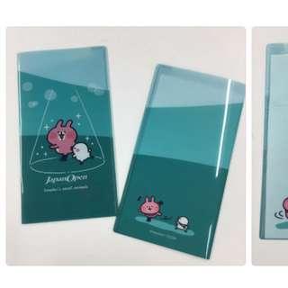 日本原裝正版 KANAHEI 日本限定 滑冰 雙頁門票文件夾 兔兔 P助