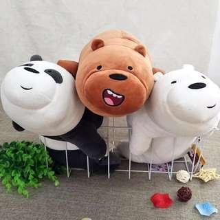 聖誕禮物 國外限定版 miniso咱們裸熊 #毛絨公仔#玩偶#生日禮物#抱枕#我的家飾可超取