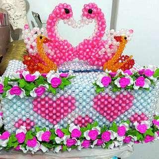 Lovely Duck Family Tissue Box