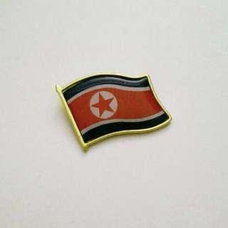 North Korea flag chest pin
