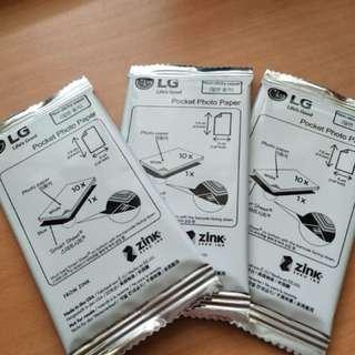LG Pocket Photo Paper Zink paper