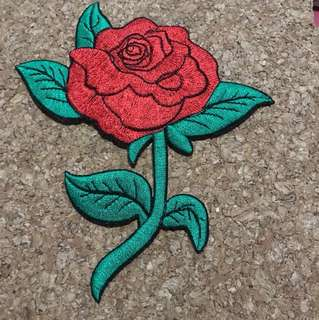 Iron on patch rose