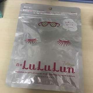 白之LuLuLun 7days 面膜