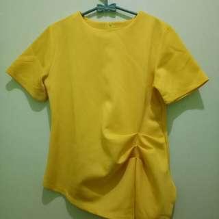 Shirt bahan scuba tebal