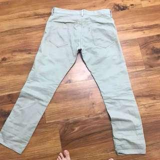 🚚 Levi's  綠色工作褲 34腰 日本帶回