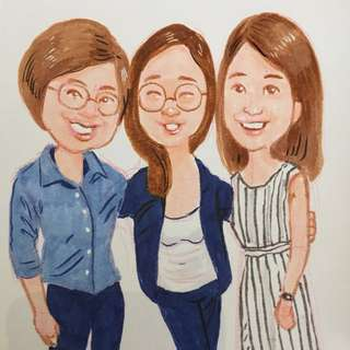 What your portraits/caricatures being drawn for your parties?
