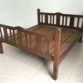Rare Antique Wooden Bed