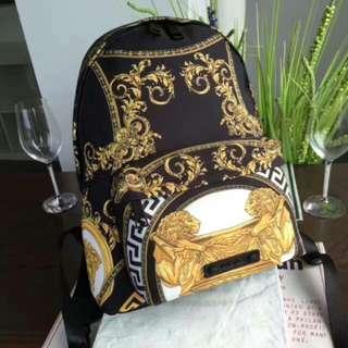 .Versace 范思哲 中性雙肩背包 後背包 書包 雙肩包 背包.
