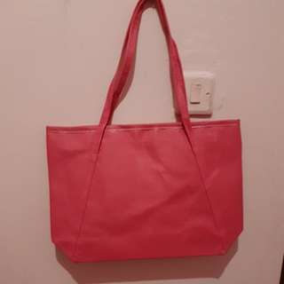Preloved tas pink tua