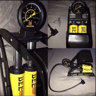 Dual Cylinder High Pressure FootPump (Able to pump up MOTORBIKE tyres, not just for bicycles)!!