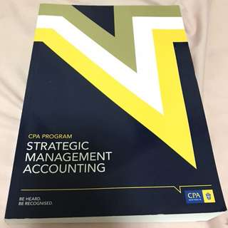 CPA australia strategic management accounting 2015 study guide