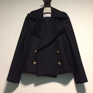 100% wool black jacket