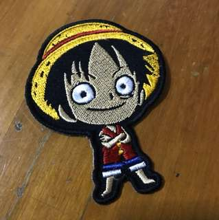 One Piece Luffy Iron On Patch