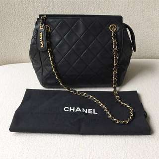 AUTHENTIC CHANEL Lambskin Tote Bag