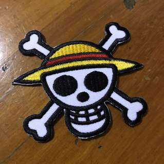 One Piece Skull Logo Iron On Patch