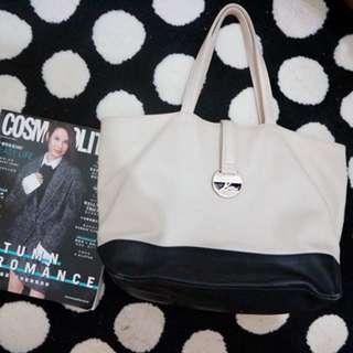Agnes b handbag 黑白手袋
