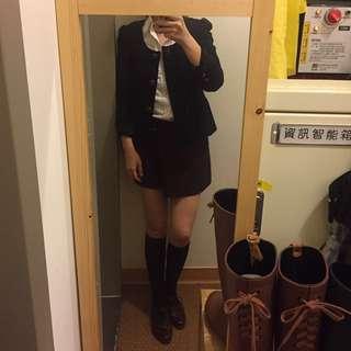 MASTINA 80%羊毛下擺微裙擺七分袖外套,尺寸34