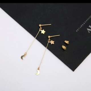Star & moon earings