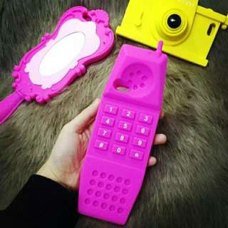 Pink Retro Handphone cover (for iPhone 5/5s/SE)
