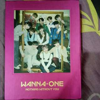 Wanna one 1-1=0 Nothing without you (One version) with poster