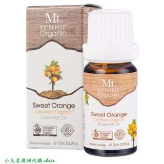 澳洲原裝進口 Mt.retour Sweet Orange 有機甜橙單方精油 10ml