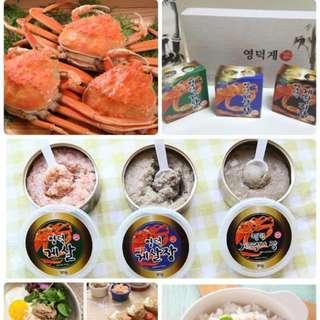 韓國製造 蟹肉蟹膏即食罐頭