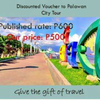 Diacounted voucher for Puerto Princesa City Tour