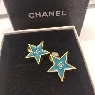 Chanel 星星夾耳環