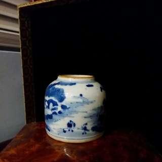 青花小水盂 可加軟木蓋盛好茶供旅行用
