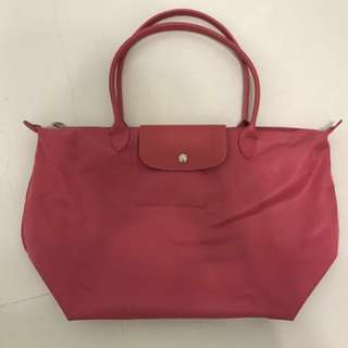 Longchamp Hot pink 大袋
