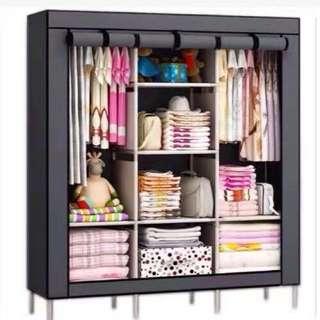 DIY Roll Up Wardrobe Cabinet Organizer