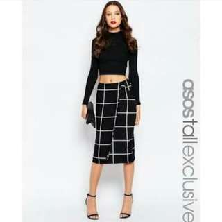 Asos Split Midi Skirt