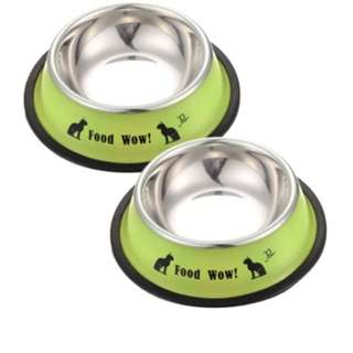 Stainless steel bowls for cats and dogs