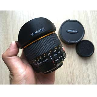 SAMYANG  8mm f/3.5 Fisheye for NIKON