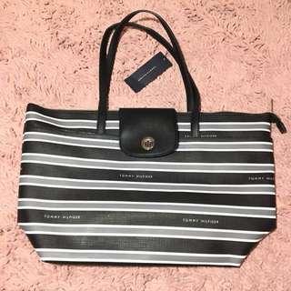 Tommy Hilfiger Tote Bag - Black & White