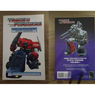 Transformers More Than Meets The Eye Offiical Guidebook Volume 1 and 2