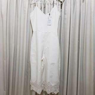 Zara Jumpsuit - White